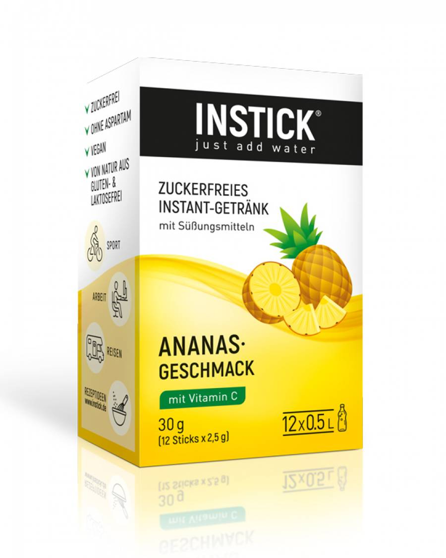 INSTICK Ananas 12-er Packung (für 12 x 0,5 L)