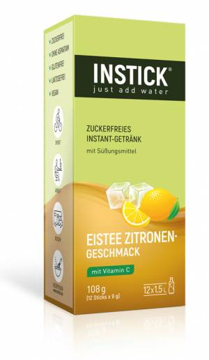 INSTICK Eistee Zitrone 12-er Packung (für 12 x 1,5 L)