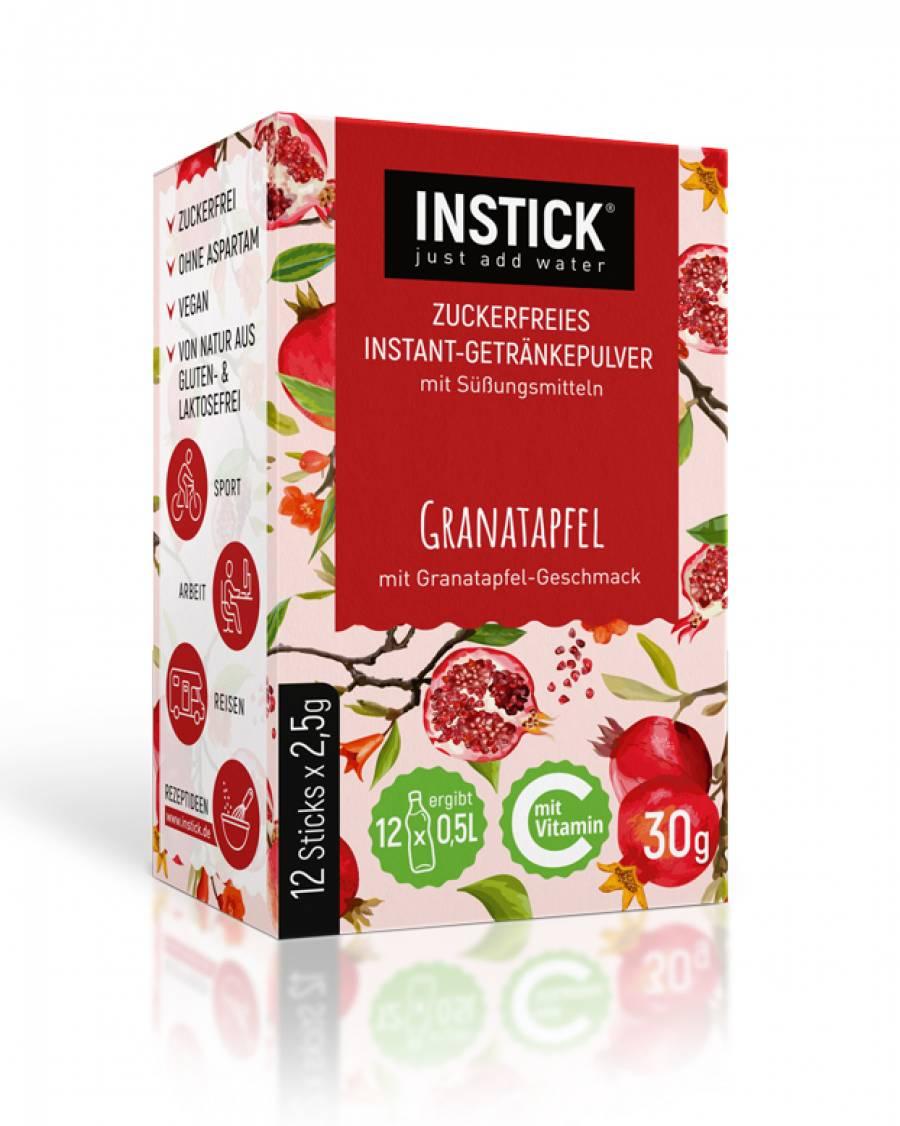 INSTICK Granatapfel 12-er Packung (für 12 x 0,5 L)